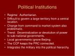political institutions