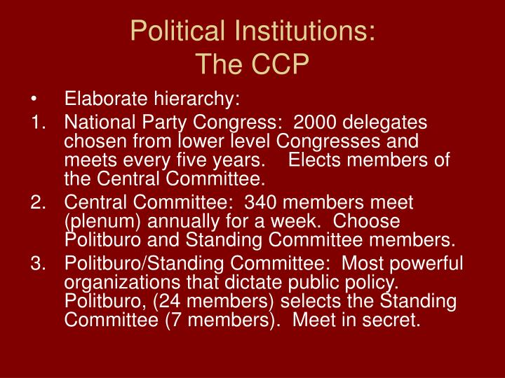 Political Institutions: