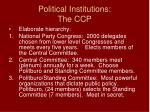 political institutions the ccp