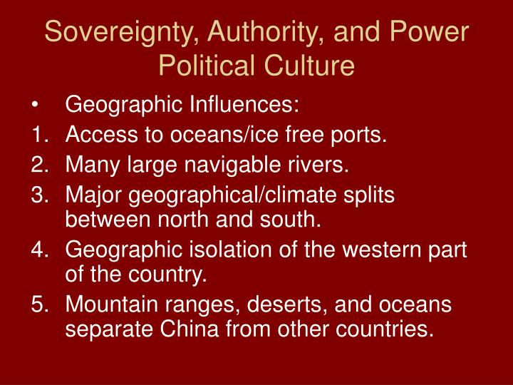 Sovereignty, Authority, and Power