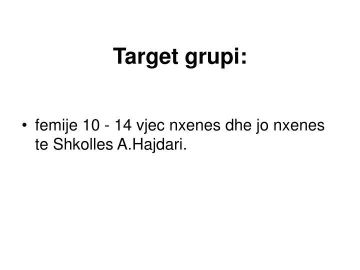Target grupi: