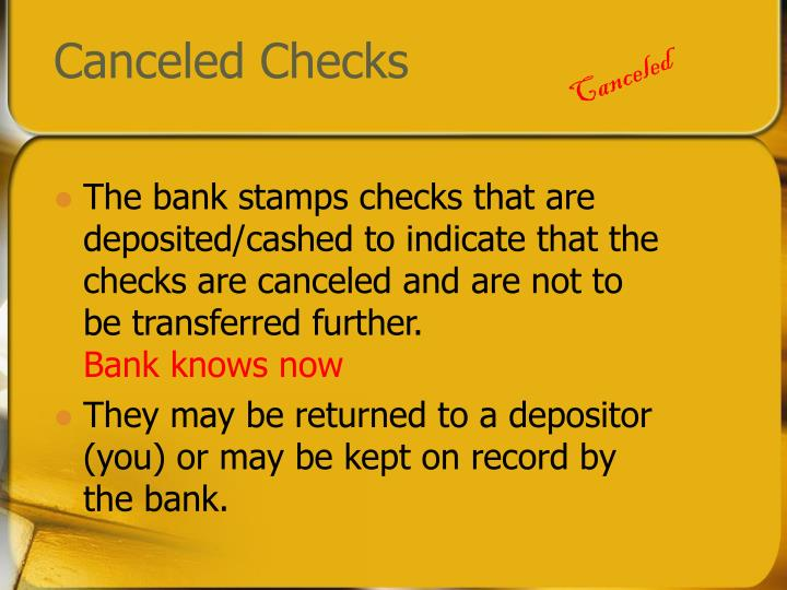 Canceled Checks