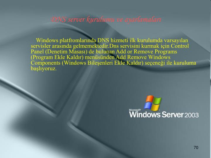 DNS server kurulumu ve ayarlamaları