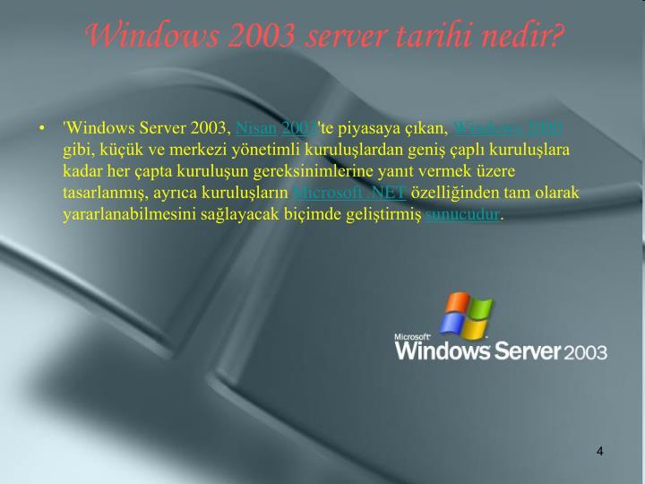 'Windows Server 2003,