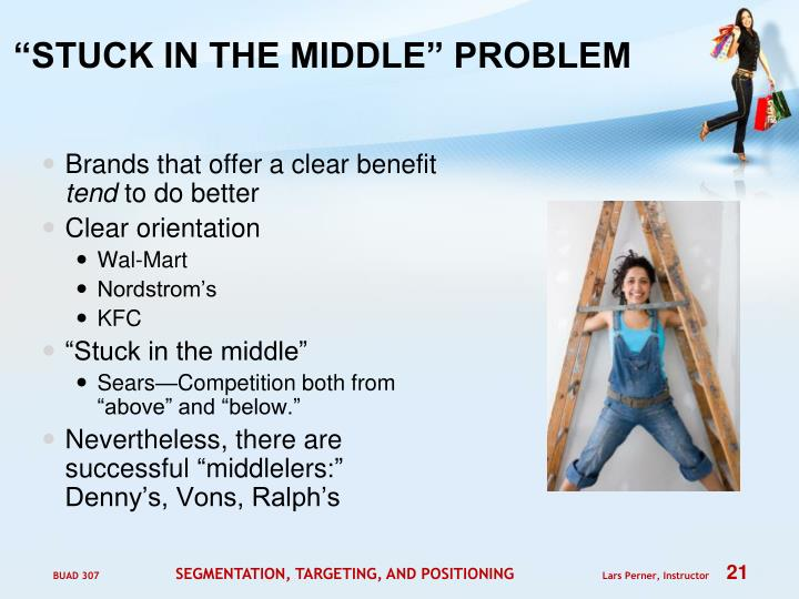 """STUCK IN THE MIDDLE"" PROBLEM"