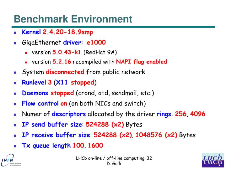 Benchmark Environment