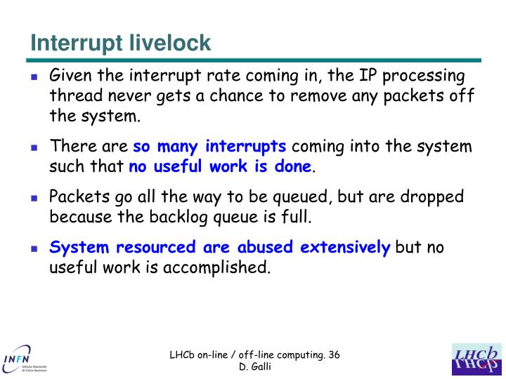 Interrupt livelock