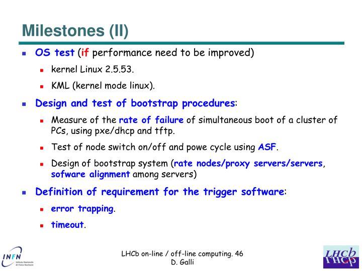 Milestones (II)