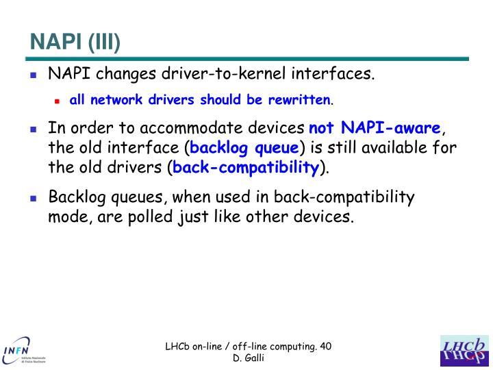NAPI (III)