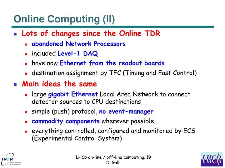 Online Computing (II)