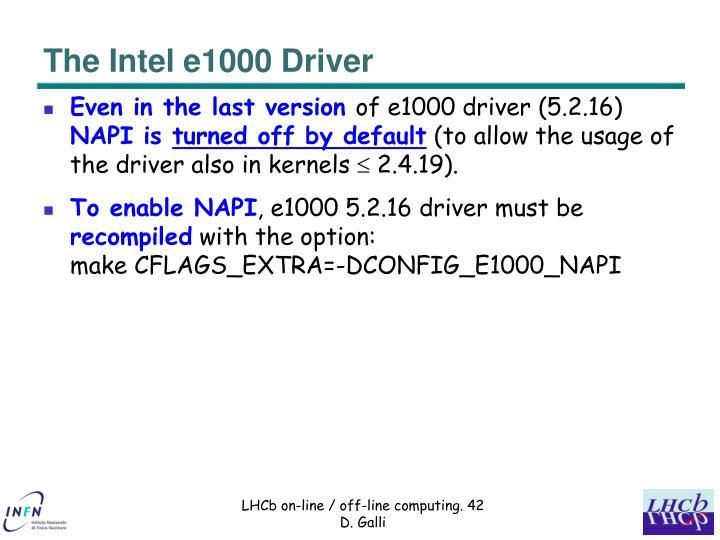 The Intel e1000 Driver