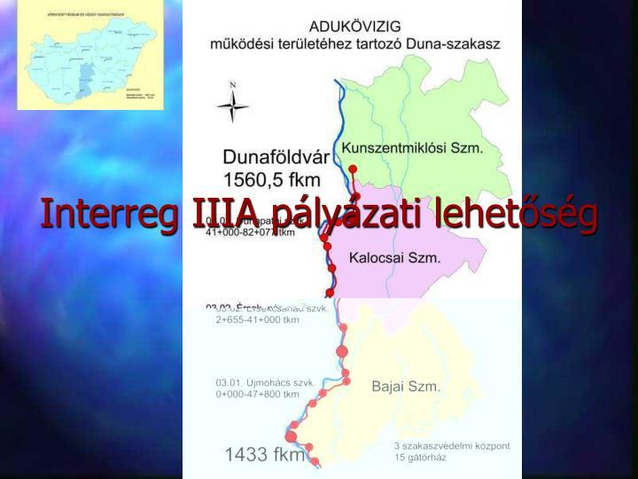 Interreg IIIA pályázati lehetőség