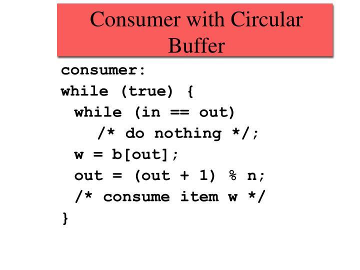Consumer with Circular Buffer
