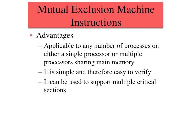 Mutual Exclusion Machine Instructions