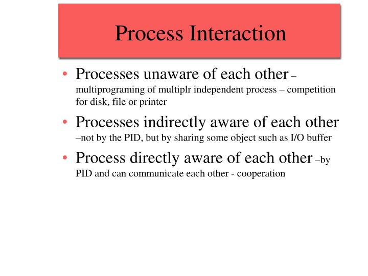 Process Interaction