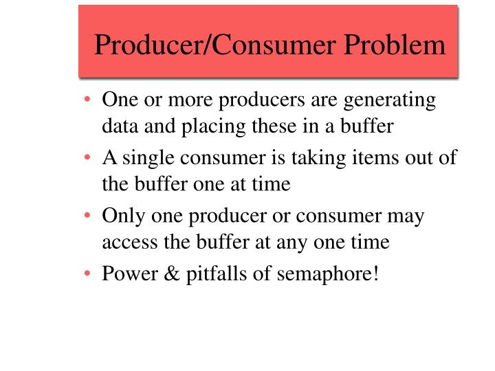 Producer/Consumer Problem