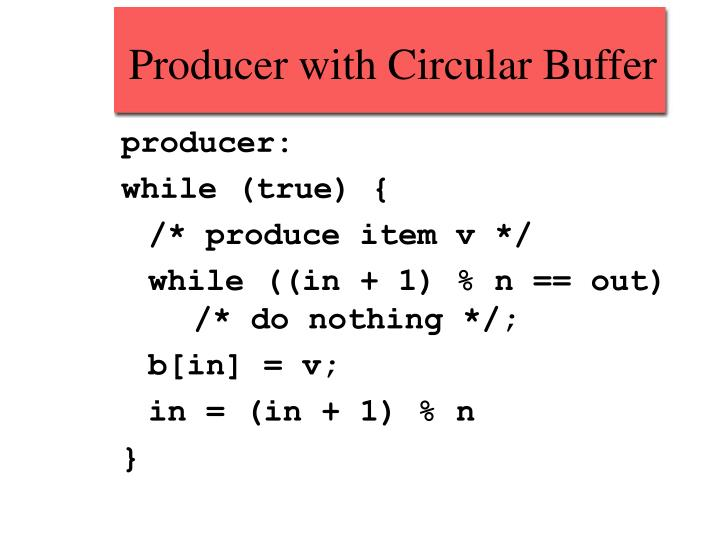 Producer with Circular Buffer