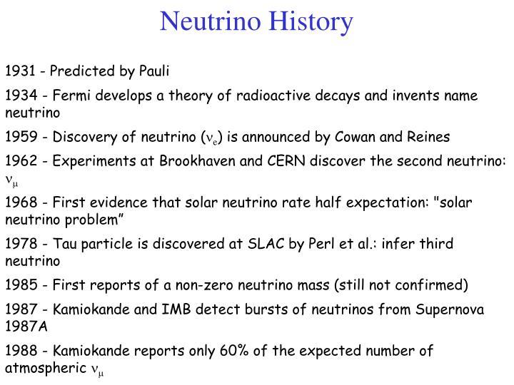 Neutrino History