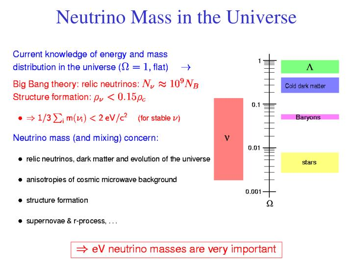 Neutrino Mass in the Universe