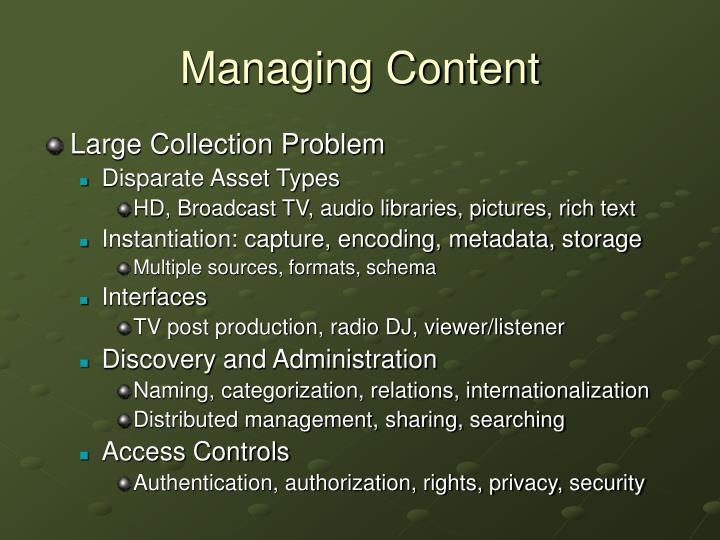 Managing Content