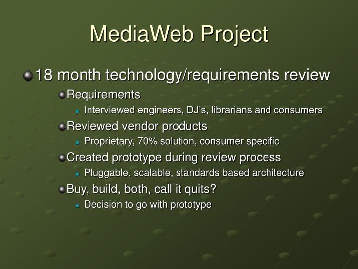 MediaWeb Project