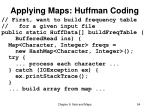 applying maps huffman coding