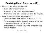 devising hash functions 2