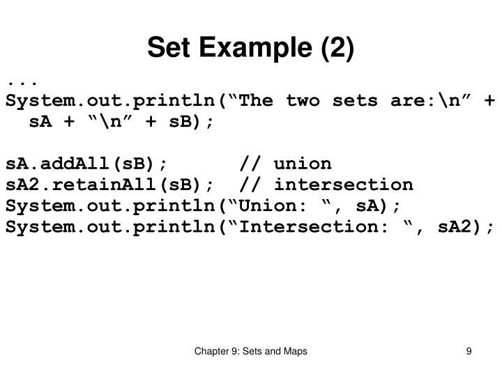 Set Example (2)