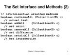the set interface and methods 2