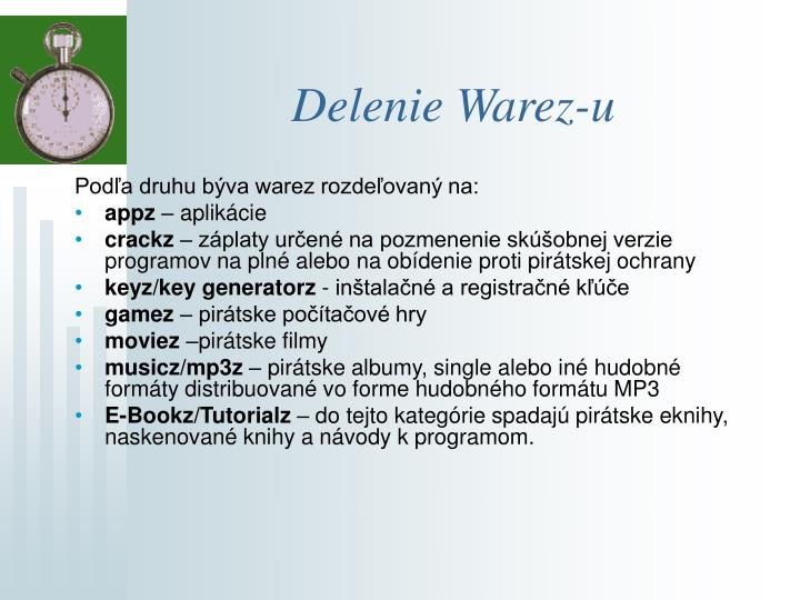 Delenie Warez-u