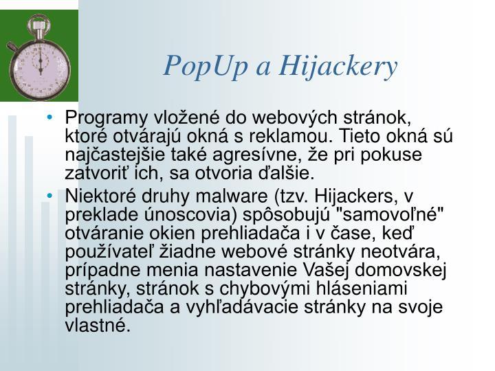 PopUp a Hijackery