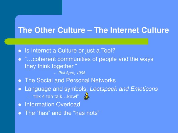 The Other Culture – The Internet Culture