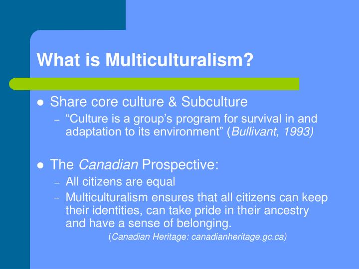 What is Multiculturalism?