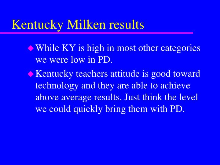Kentucky Milken results