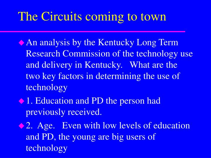 The Circuits coming to town
