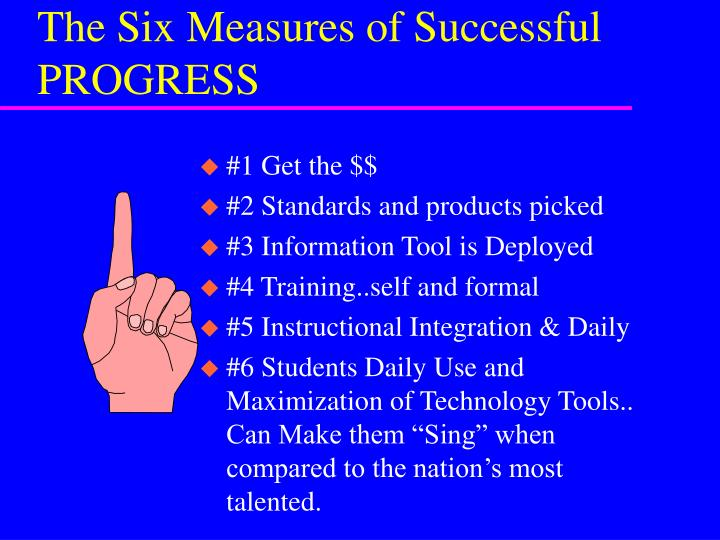 The six measures of successful progress