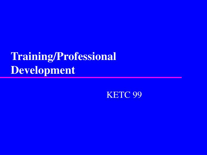 Training professional development