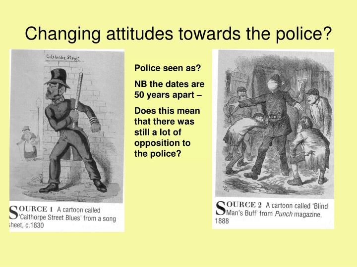 Changing attitudes towards the police?