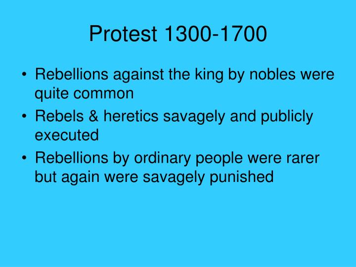 Protest 1300-1700