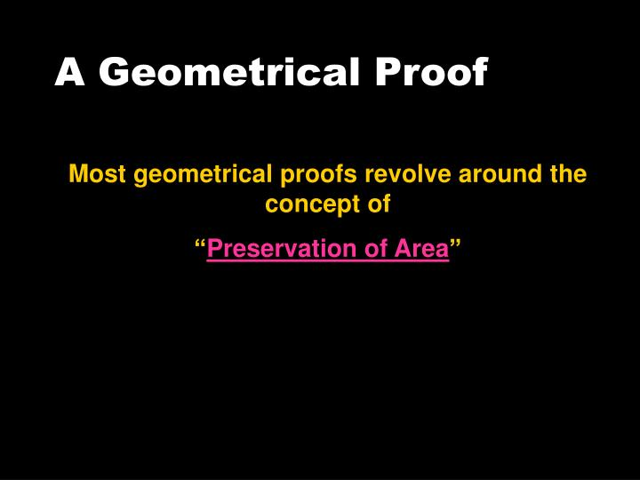 A Geometrical Proof