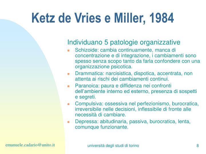 Ketz de Vries e Miller, 1984