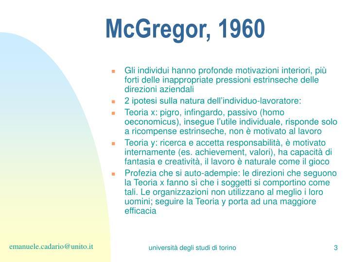 McGregor, 1960