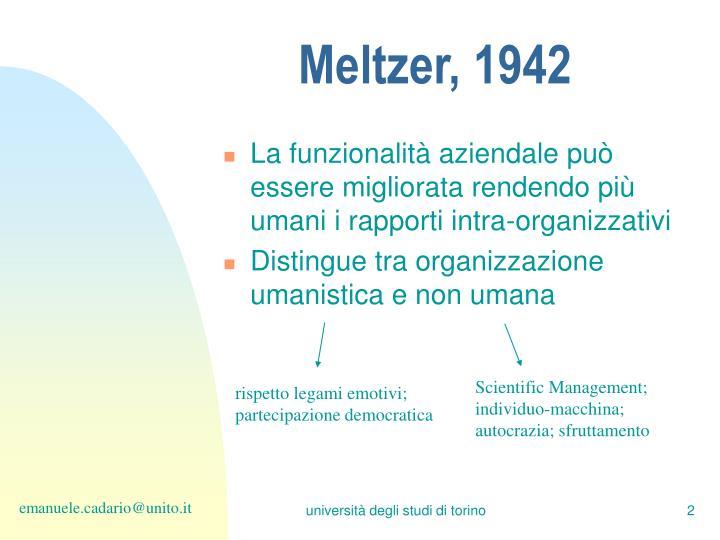 Meltzer, 1942