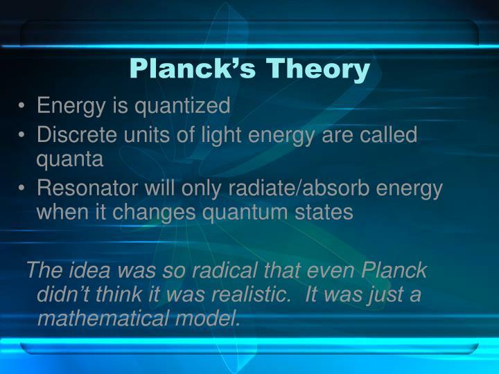 Planck's Theory