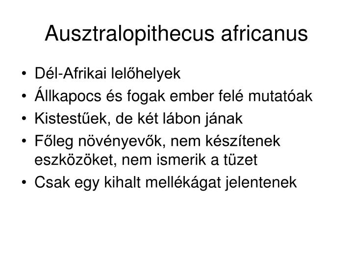 Ausztralopithecus africanus