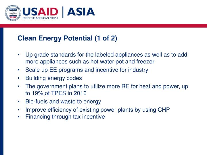 Clean Energy Potential (1 of 2)