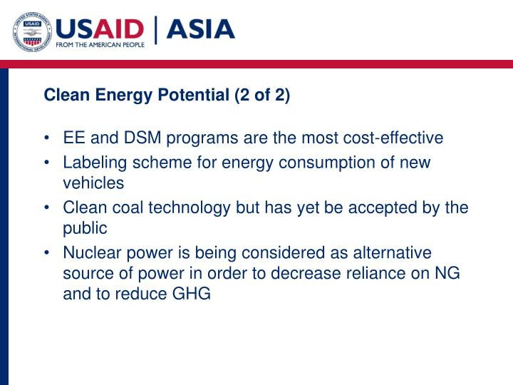 Clean Energy Potential (2 of 2)