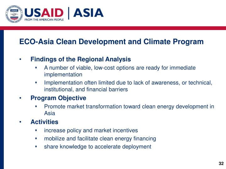ECO-Asia Clean Development and Climate Program