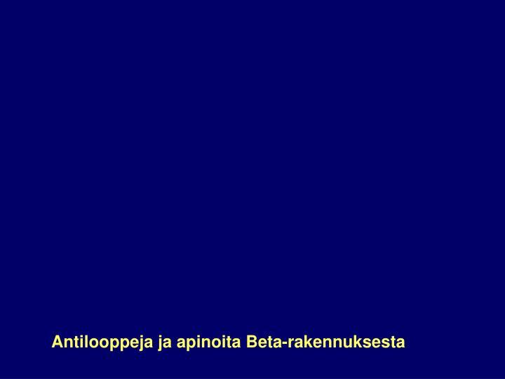 Antilooppeja ja apinoita Beta-rakennuksesta
