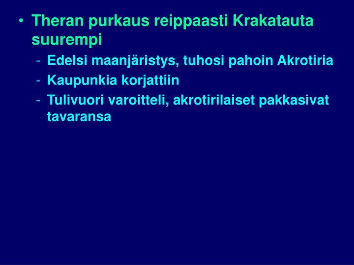 Theran purkaus reippaasti Krakatauta suurempi